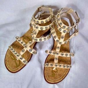 Sam Edelman Gladiator Eavan Sandals Sz 6.5 tan